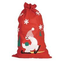 Kerstzak Sneeuwpop 85cm