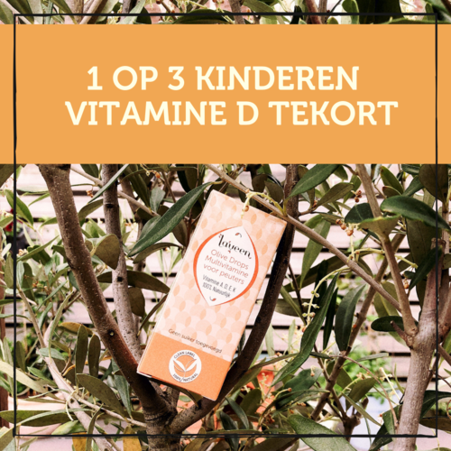 Eén op de drie kinderen in Nederland heeft een tekort aan vitamine D.