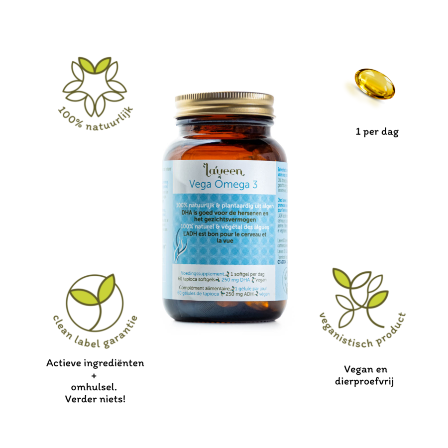 Vegan Omega 3 (vegan, rich in DHA)