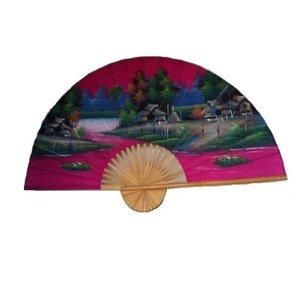 Chinesischer Fächer rosa 150 cm