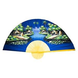Chinese Fan dark blue 150 cm