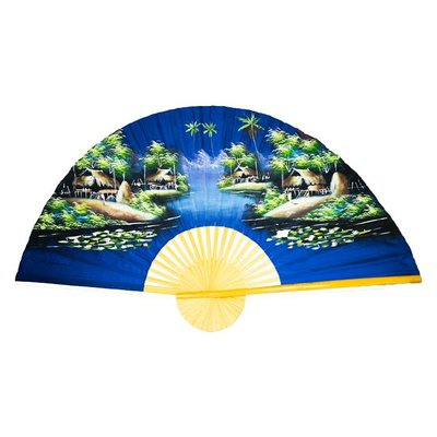 Chinesischer Fächer dunkelblau 150 cm