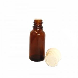 Bottle of 20 ml brown glass with dropper