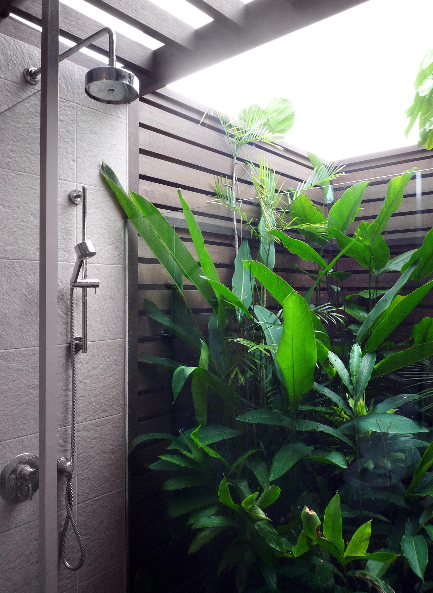 Luchten bij de douche