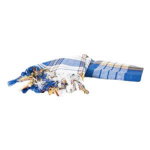 Pestemal blau kariert 170 x 80 cm