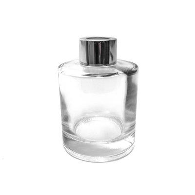 Duftstäbchen Flaschenglas 150 ml mit Aluminiumkappe und Zierkappe