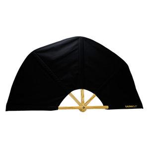 Saunagut Fan schwarz 100 cm