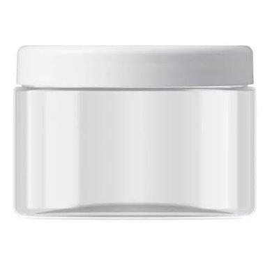 Pot de 450 ml. avec couvercle blanc