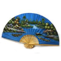 Chinesischer Fächer Hellblau 150 cm