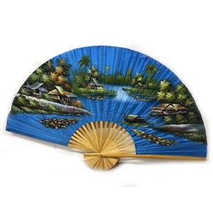 Chinese Waaier Lichtblauw 150 cm
