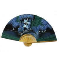 Éventail chinois vert 150 cm