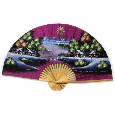 Chinesischer Fächer Hellviolett 150 cm