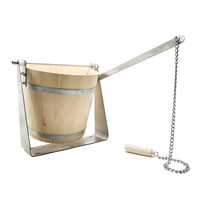 Dump bucket with stainless steel mounting bracket