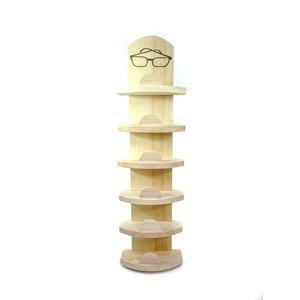 Glasses holder wood for 6 glasses