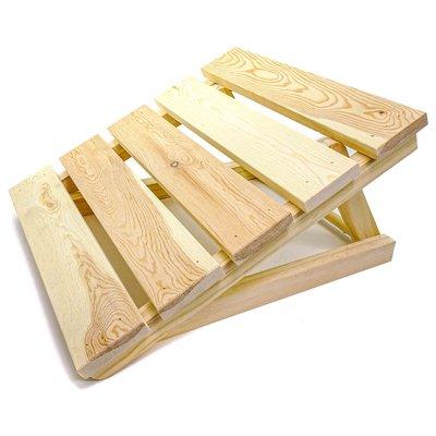 Sauna kussen hoofd- en voetensteun hout verstelbaar