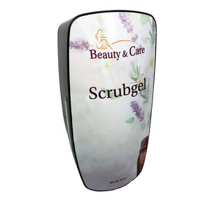 Soap dispenser for scrub gel
