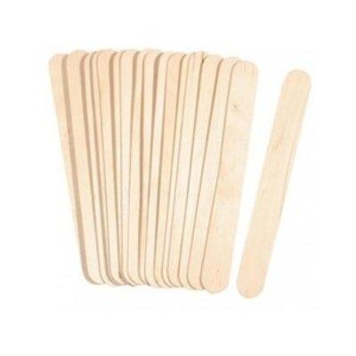 Merbach Houten Spatels breed, 100 stuks, Lengte 15 cm x 2 cm