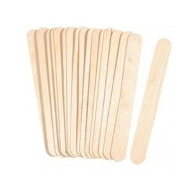Wooden Spatulas wide, 100 pieces, Length 15 cm x 2 cm