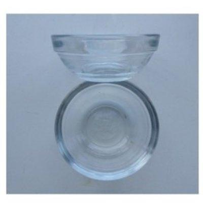 Schaaltje glas voor verfmengen klein 6 cm