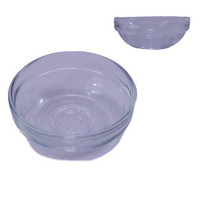 Glass bowl for mixing paint