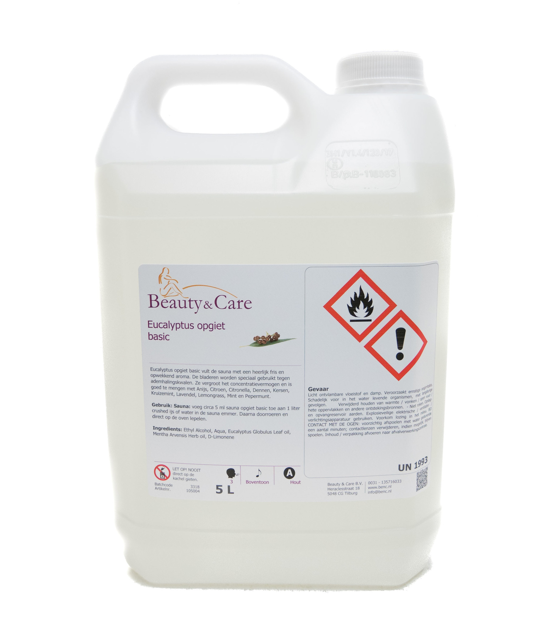 Eucalyptus opgiet basic 5 liter