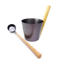 Set Sauna bucket aluminum 6 L and spoon 60 cm