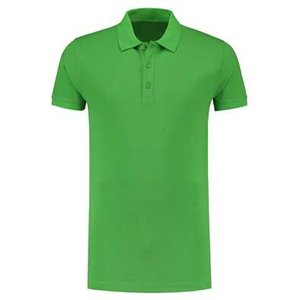 Lemon & Soda L&S unisex polo Basic Cotton Elasthan lime