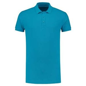 Lemon & Soda L&S unisex polo Basic Cotton Elasthan turquoise