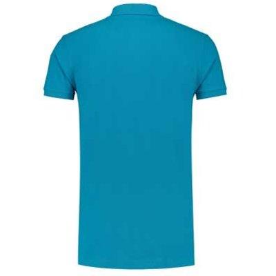 Lemon & Soda L&S unisex polo Basic Cotton Elasthan turquoise