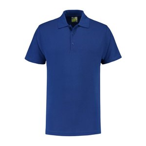 Lemon & Soda L&S unisex polo Basic Mix 60 graden wasbaar royal blue