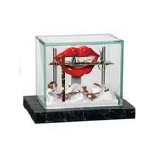 Kunst vitrine mini 'Rode Mond'