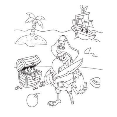 Inkleurtas Piraat