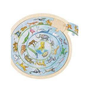 Puzzel animal cirkel