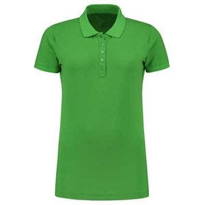 Lemon & Soda L&S damespolo Basic Cotton Elasthan lime