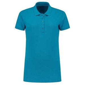 Lemon & Soda L&S damespolo Basic Cotton Elasthan turquoise