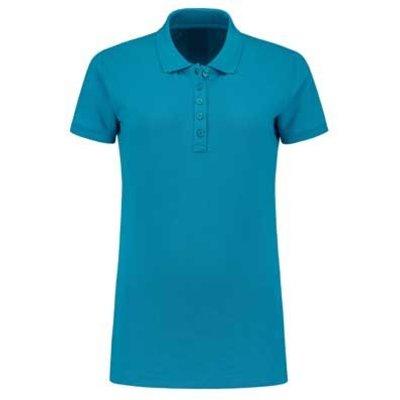 Lemon & Soda L&S damespolo Basic Cotton Elasthan turquoise