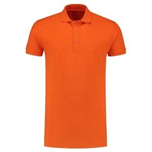 Lemon & Soda L&S unisex polo Basic Cotton Elasthan oranje
