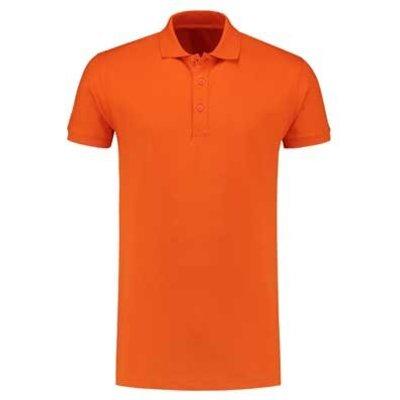 Lemon & Soda L&S unisex polo Basic Cotton Elasthan oranje