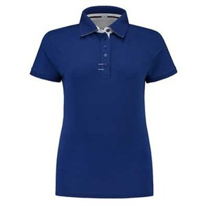 Lemon & Soda L&S Contrast Polo Elasthan royal blue/wit