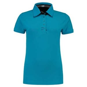 Lemon & Soda L&S Contrast Polo Elasthan turquoise/navy