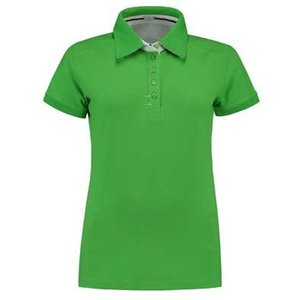 Lemon & Soda L&S Contrast Polo Elasthan lime/wit
