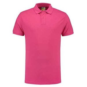 Lemon & Soda L&S unisex polo Basic Mix 60 graden slim-fit mouwen fuchsia