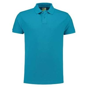 Lemon & Soda L&S unisex polo Basic Mix 60 graden slim-fit mouwen turquoise