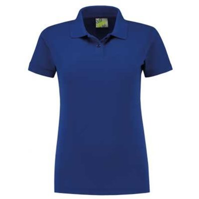 Lemon & Soda L&S unisex polo Basic Mix 60 graden slim-fit mouwen royal blue
