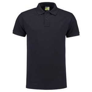 Lemon & Soda L&S unisex polo Basic Mix 60 graden slim-fit mouwen navy