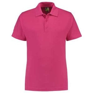 Lemon & Soda L&S unisex polo Basic Mix 60 graden wasbaar fuchsia