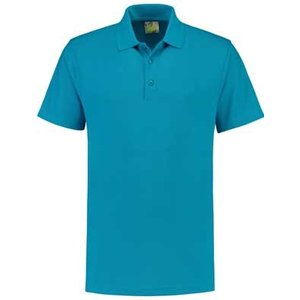 Lemon & Soda L&S unisex polo Basic Mix 60 graden wasbaar turquoise