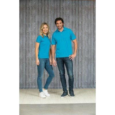 Lemon & Soda L&S unisex polo Basic Mix 60 graden wasbaar turquoise
