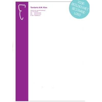 Briefpapier 1-kleur