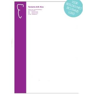 Briefpapier 2-kleur